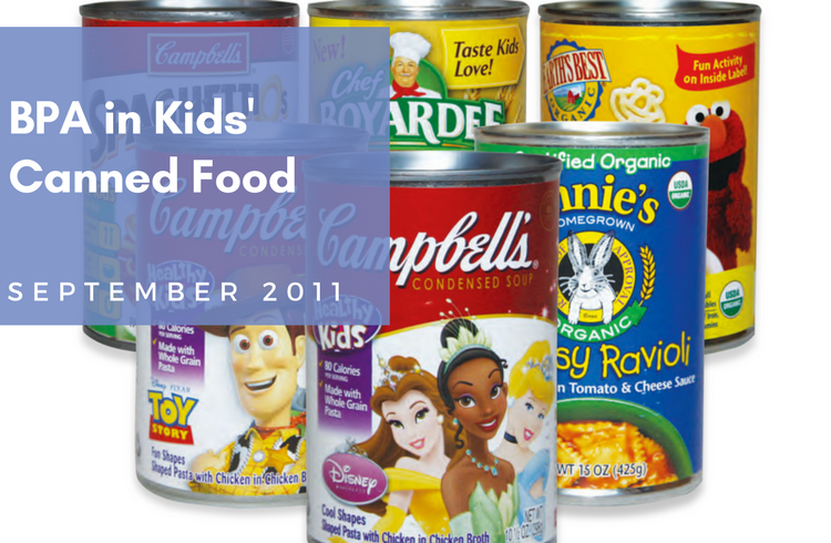 BPA in Kids' Canned Food Report