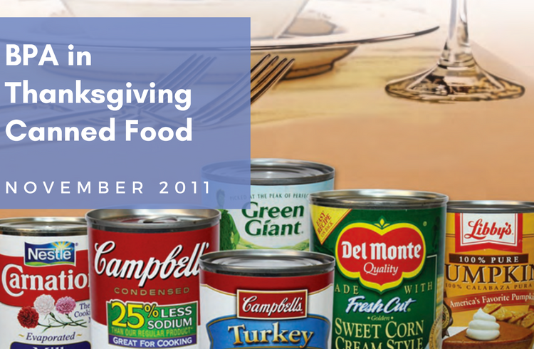 BPA in Thanksgiving Canned Food