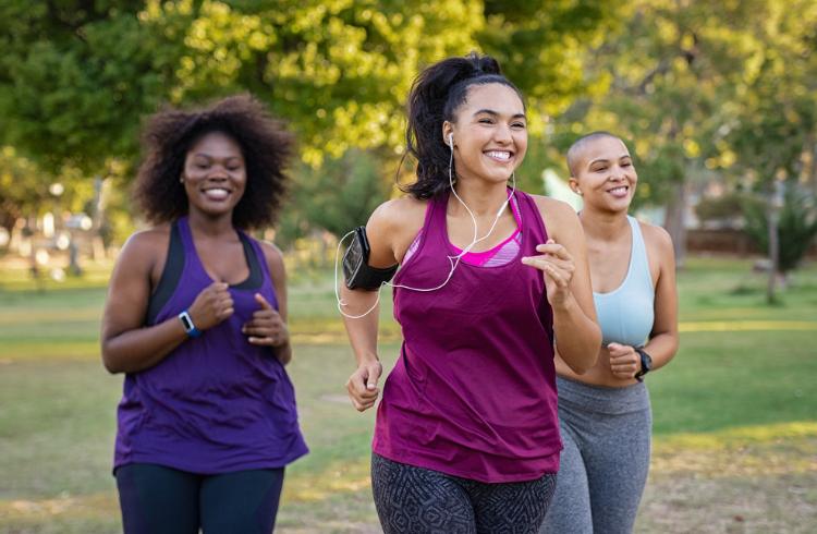 Young women running group