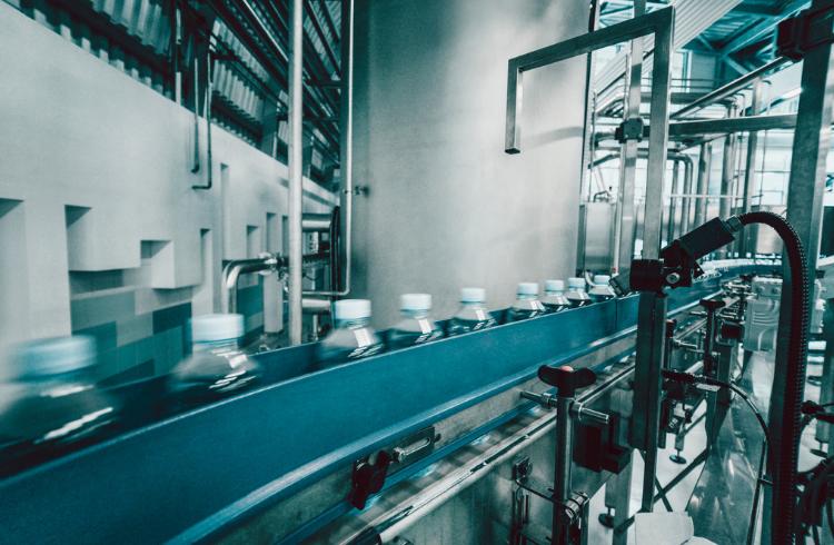 Bottles assembly line