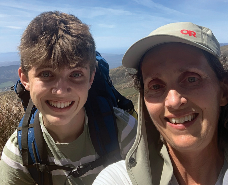 Sarah and Max Reines training for Climb Against the Odds 2021