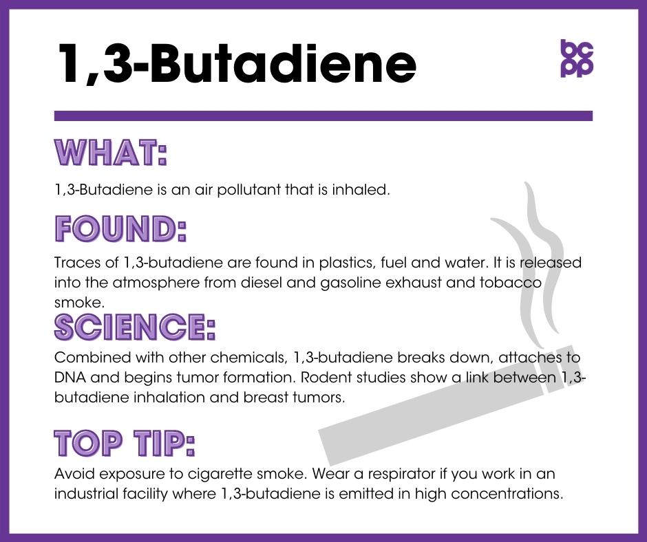 1,3-Butadiene tip card infographic
