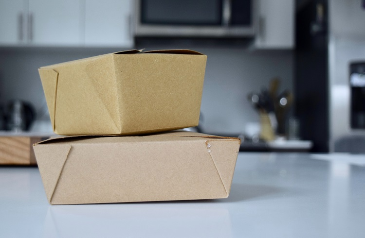 cardboard takeout containers